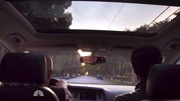 Blake and Simon in car