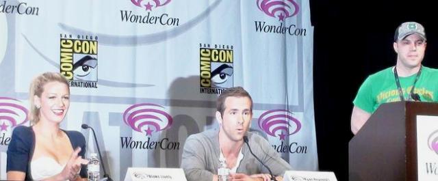 Blake Lively Ryan Reynolds Geoff Johns at WonderCon 2011