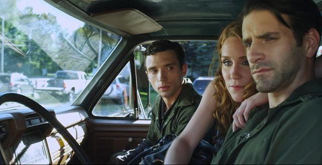 Alexander (Rick Faugno) Ruby (Paige Howard) & Clif (Patrick Zeller) discuss business in dump truck
