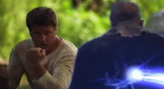 Mysterious Island - Lochlyn Munro saved by Nemos lightning gun