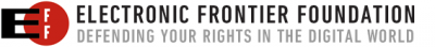 Electronic Frontier Foundation banner logo - Click to learn more at EFF