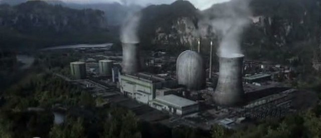 Falling Skies S3x01 - Ben and Dani come upon the nuclear power plant