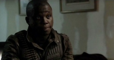 Falling Skies S3x01 - Mpho Koaho as Skitter Fighter Detective Anthony