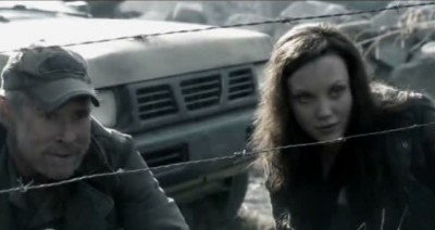 Fallings Skies S3x01 - Will Patton as Weaver and daughter Jeanne portrayed by Laci J. Mailey