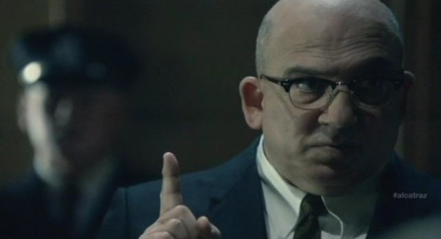 Alcatraz S1x08 - Warden James warns the decrepit masses