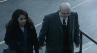 Alcatraz S1x11 - Lucy and Warden James back in 1960