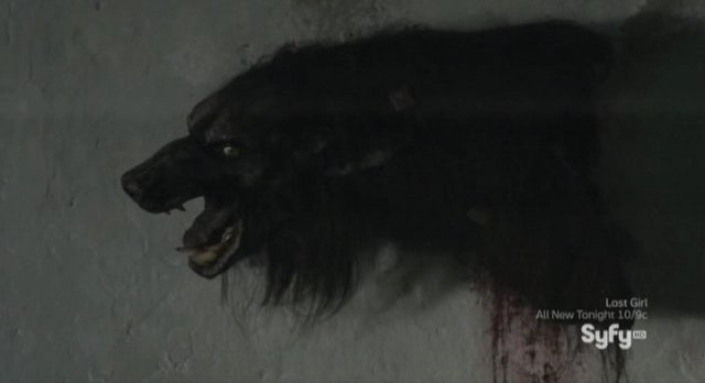 Being Human S3x02 - Liam finds his werewolf son Connor mounted on the wall