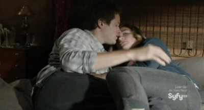 Being Human S3x04 - RJ and Erin get caught making out by Josh