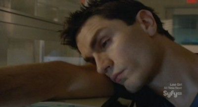 Being Human S3x05 - Aidan has fallen asleep at work