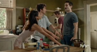 Being Human S3x06 - Good natured interaction between the room mates