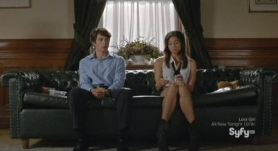 Being Human S3x05 - Max and Sally do not sit too close together on the couch