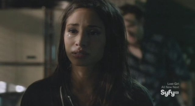 Being Human S3x06 - Sally with tears in her eyes makes the Faustian bargain