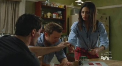 Being Human S3x08 - Aidan, Josh and Sally meet in the kitchen