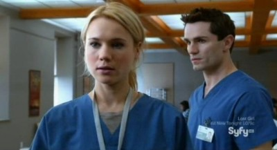 Being Human S3x08 - Nora and Aidan have a frictional meeting at the hospital cafeteria
