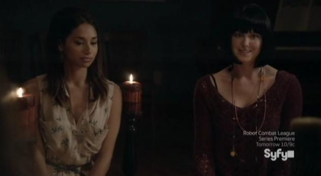 Being Human S3x07 - Sally and Bridget in seance with Barb