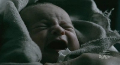 Being Human S3x10 - Aidan holds the little waif in his arms