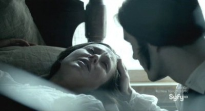 Being Human S3x10 - Aidan tends to his wife Susanna who has just lost their child during labor