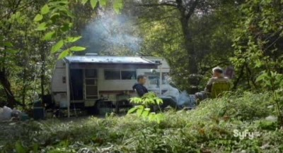Being Human S3x10 - Josh and Pete commune in the forest