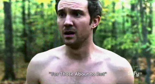 Being Human S3x10 - Josh is once again naked in the forest