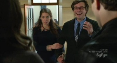 Being Human S3x10 - Kat and Aidan are interrupted by Professor Westin and his new squeeze Marissa