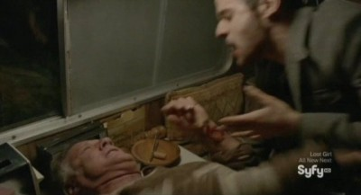 Being Human S3x10 - Poor Pete is attacked by a bevy of vampires