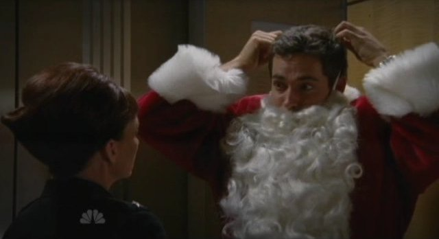 Chuck S5x07 - Beckman with Chuck in Santa Suit