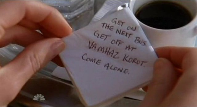 Chuck S5x08 - Rykers note says come alone