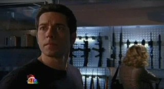 Chuck S5x08 - Sarah selects weapons as Chuck inquires