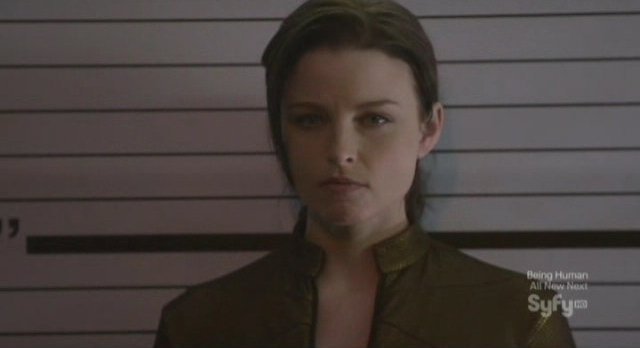 Continuum S1x02 - Kiera is booked at Vancouver Police Headquarters