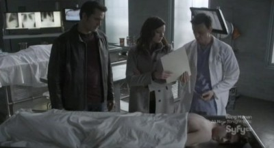 Continuum S1x03 - Carlos and Kiera learn growth hormone glands have been removed