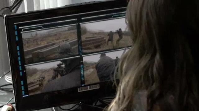 02x02Continuum Betty watches gunfire on cameras