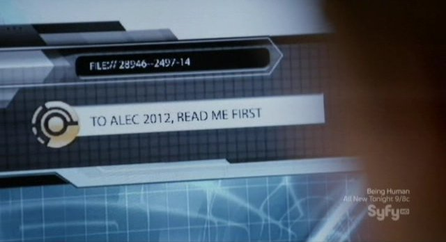 Continuum S1x10 - Alec gets the e-mail message from the future