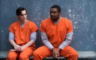 Continuum S2x02 -  Julian and Travis in prison together - Image courtesy Showcase