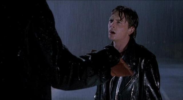 Marty in rain Back To The Future III