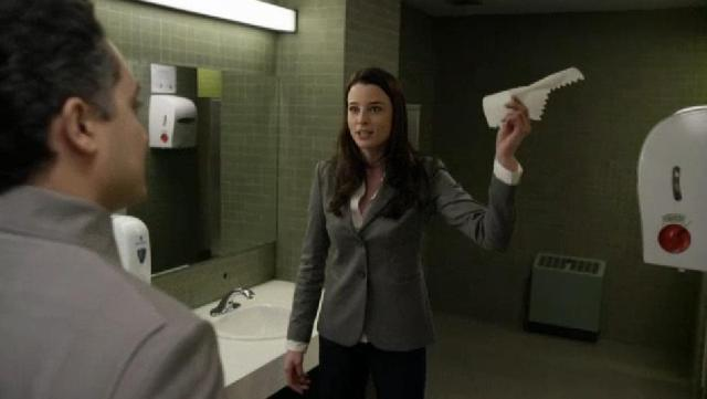 S02X05Continuum people wipe hands with paper