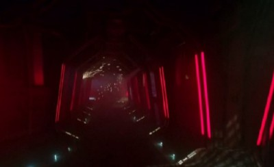Dark Matter S1x01 The interior hallways of The Raza