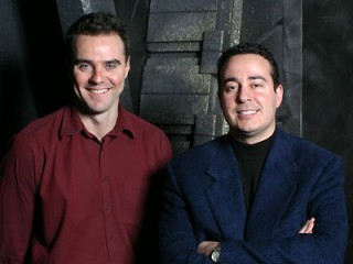 Paul Mullie and Joseph Mallozzi during the Stargate Years