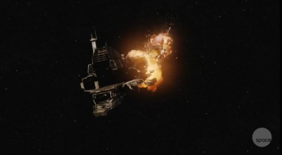 Dark Matter S01x05 Blowing up the freighter