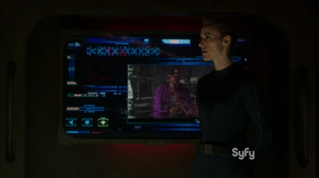 Dark Matter S1x03 The Android briefs the crew