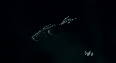 Dark Matter S1x03 The Raza hurtling through space