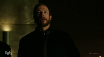 Dark Matter S2x07 Galactic Authority Inspector Kierken confirms Talbor was abducted