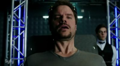 Dark Matter S2x09 Three is injected with the black entity by Rook