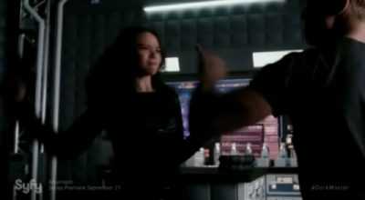 Dark Matter S2x09 Two battles the beefy synthetic human