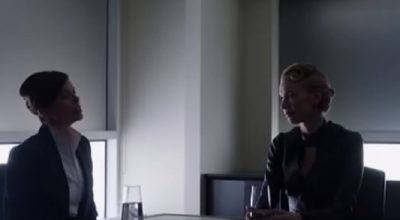 Dark Matter S2x13 Torri Higginson as Commander Truffault with her aide