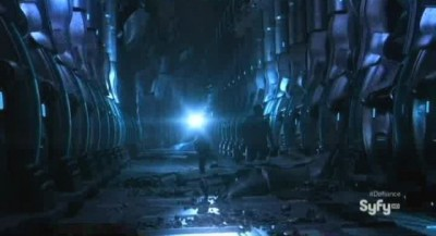 Defiance S1x01 - The interior of a crashed Ark ship