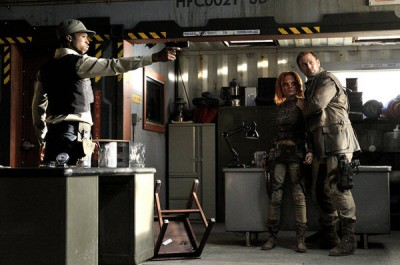 Defiance - S1x09 - Nolan is protective of Irisa with Tommy