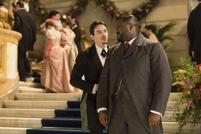 """Dracula S1x01 - """"The Blood Is The Life"""" Episode 1 -- Pictured: (l-r) Jonathan Rhys Meyers as Alexander Grayson, Nonso Anozie as R.M. Renfield -- (Photo by: Jonathon Hession/NBC)"""