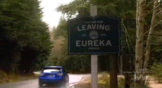 Eureka S5x03 - Fargo sees the leaving Eureka sign over and over