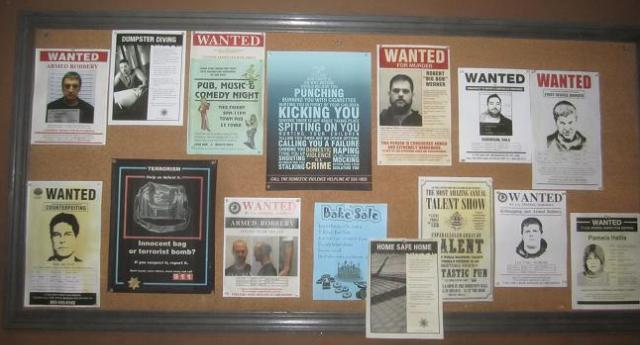 Wanted Posters at Sheriff Carter Office Eureka during set visit