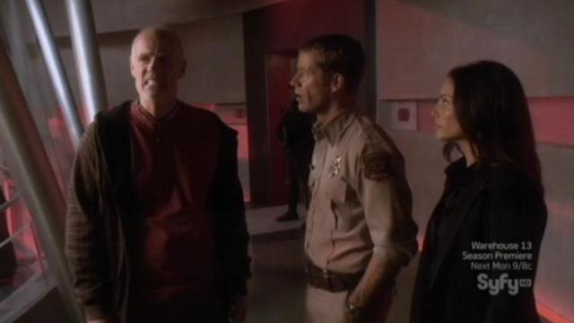 Eureka S6x01Taggart Carter and Jo